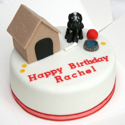Dog kennel cake
