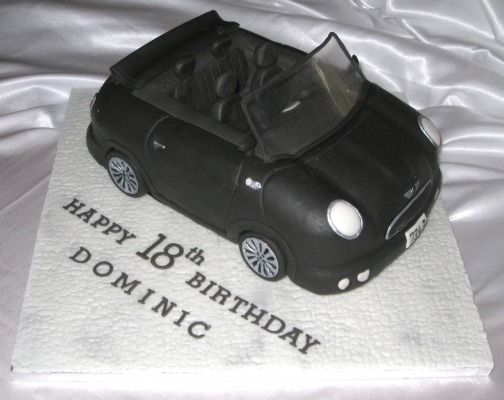 Convertible Mini car cake