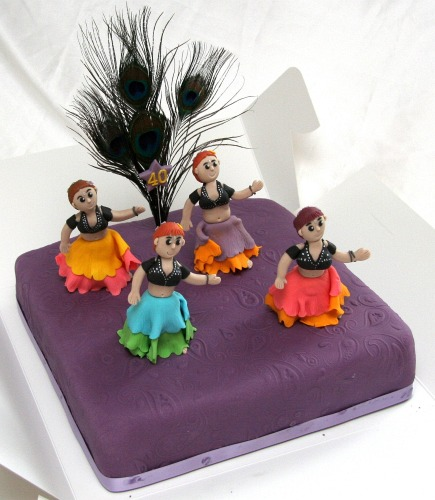 Tribal belly dancers cake